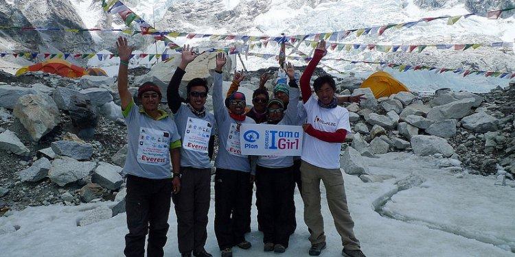 Everest team at Base Camp