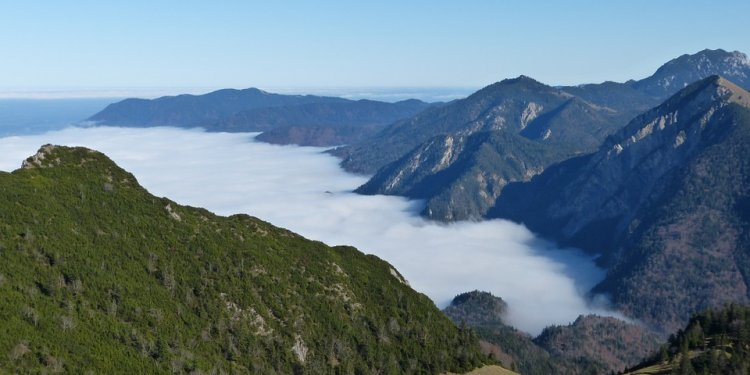 Alpine, Mountains, Blue, Fog