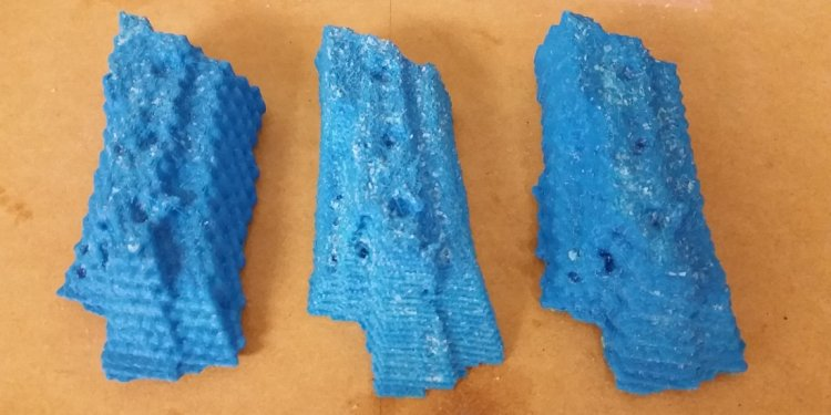 3D printed geometries cores