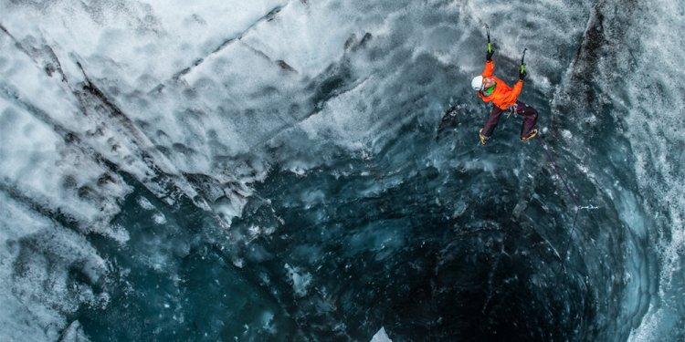How do you climb an iceberg?