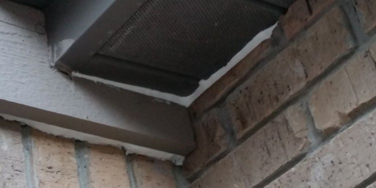 Mouse entry point along soffit
