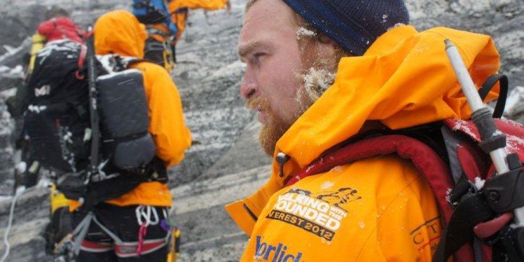 Karl Hinett climbing Lobuche