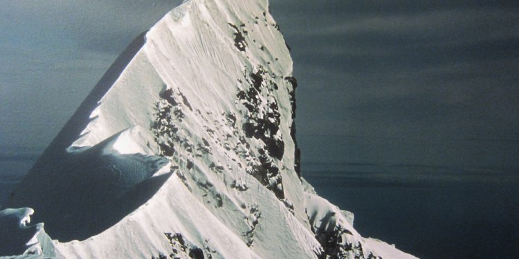 Picture of the top of Mt. Cook, where Sir Edmund Hillary trained to climb Everest