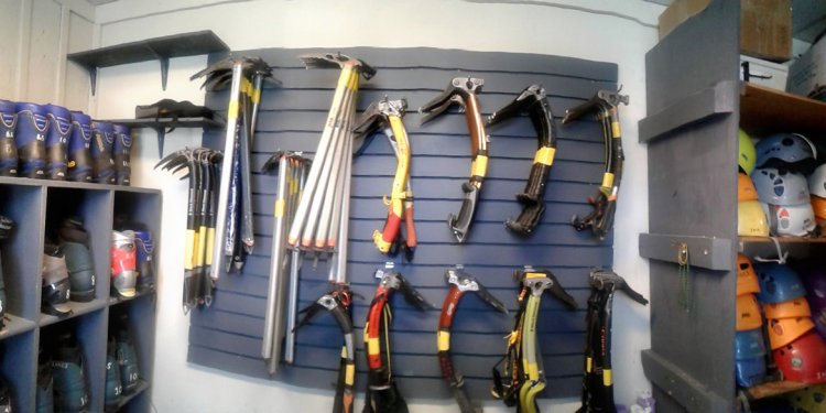 Ice climbing rental gear at