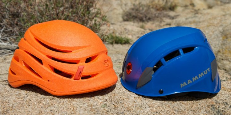 The Petzl Sirocco(left) weighs
