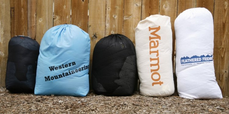 Storage sacks from left to