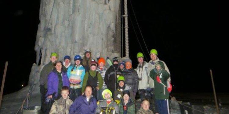 Troop 766 Silo Ice Climbing