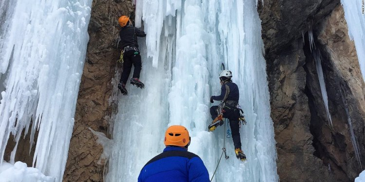 """""""Ice climbing is much"""