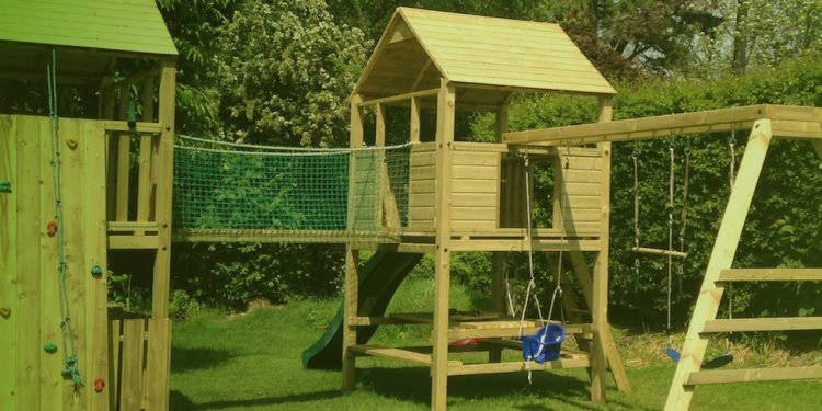 Wooden Climbing Frame & Tree