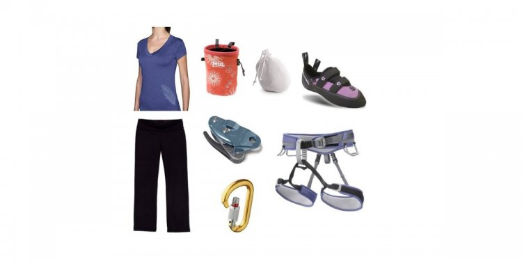 Basic rock climbing gear