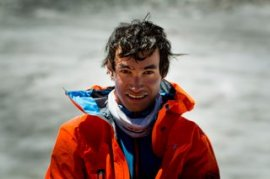 David Lama posing for a portrait.