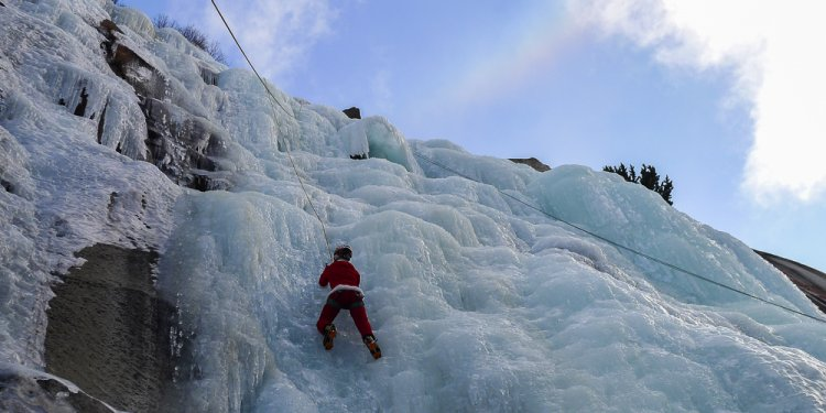 Ice climbing California