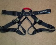 Climbing harness for hunting