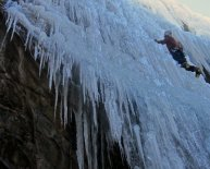 Ice climbing Washington